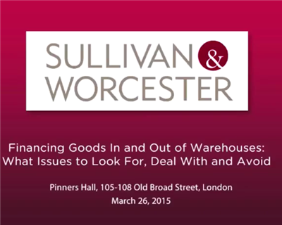 Video: Financing goods in and out of warehouses