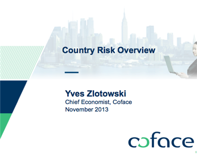 An economic tour of the world from Yves Zlotowski, chief economist at Coface