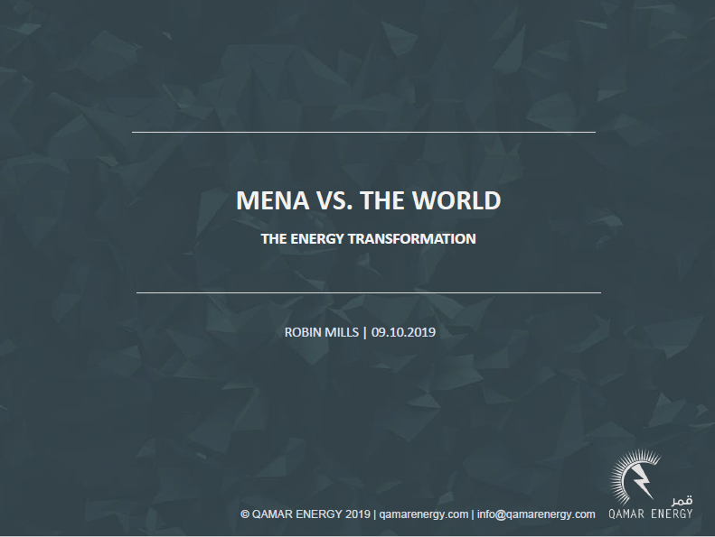 Day One 0905: MENA vs The World: The Geopolitical Overview. Robin Mills, Qamar Energy